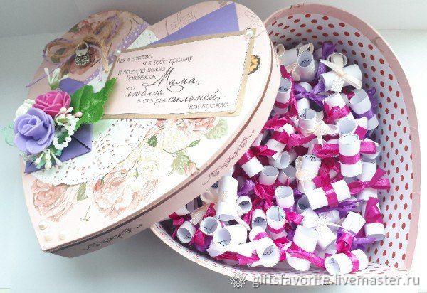 Коробочка для мамы с душевными пожеланиями, Подарки, Богучаны, Фото №1