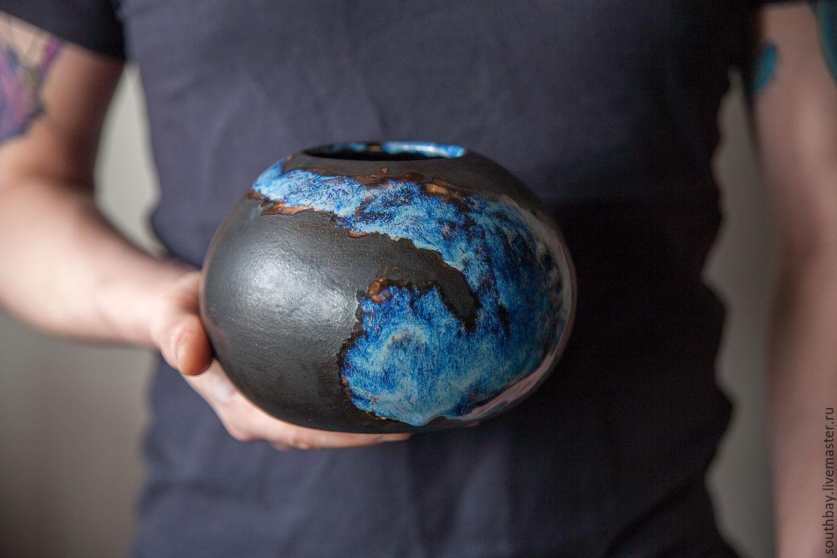 Керамическая ваза космической красоты, Вазы, Краснодар,  Фото №1