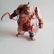 Куклы и игрушки ручной работы. Ярмарка Мастеров - ручная работа Фигурка героя пудж из дота 2 Персонаж из компьютерной игры. Handmade.