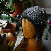 Аксессуары handmade. Livemaster - original item Hat felted the Fog, warm beanie. Handmade.