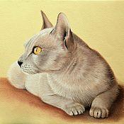 Картины и панно ручной работы. Ярмарка Мастеров - ручная работа Кошка картина пастелью. Handmade.