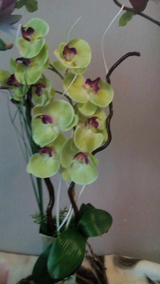 Элементы интерьера ручной работы. Ярмарка Мастеров - ручная работа. Купить Композиция из орхидей. Handmade. Для дома, разные