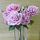 Цветы ручной работы. Ярмарка Мастеров - ручная работа. Купить Розы и сирень. Handmade. Розовый, цветы ручной работы, подарок