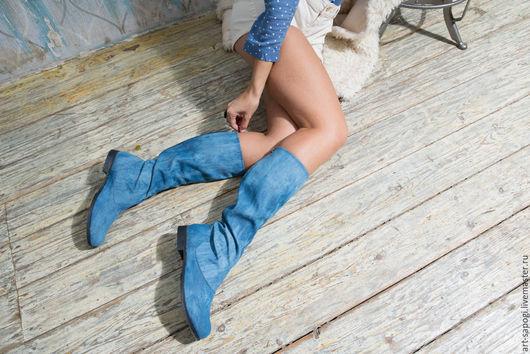 Обувь ручной работы. Ярмарка Мастеров - ручная работа. Купить Летние сапоги 5-154. Handmade. Сапожки ручной работы