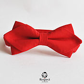 handmade. Livemaster - original item Tie red Fancy / butterfly tie red wedding. Handmade.