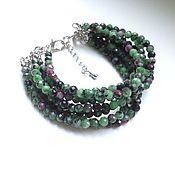 Украшения handmade. Livemaster - original item Multi-row bracelet from zoisite.. Handmade.