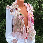"""Одежда ручной работы. Ярмарка Мастеров - ручная работа Жакет - Кофточка """" Нежность розового"""".   В стилях Шебби Шик, Бохо Шик.. Handmade."""
