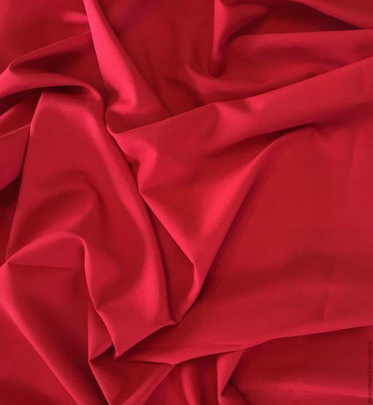 Шитье ручной работы. Ярмарка Мастеров - ручная работа. Купить Итальянская костюмная ткань. Handmade. Ярко-красный