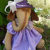 Куклы и игрушки ручной работы. Ярмарка Мастеров - ручная работа интерьерная игрушка слониха Фиалка. Handmade.