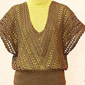 Одежда ручной работы. Ярмарка Мастеров - ручная работа Жилет вязаный крючком Ажурный. Handmade.
