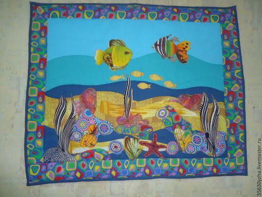 """Детская ручной работы. Ярмарка Мастеров - ручная работа. Купить Лоскутное пано  """" Подводный мир"""". Handmade. Разноцветный"""
