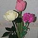 Цветы в вазу: тюльпан, гвоздика, роза.  Гармонично сочетаются друг с другом, не требуют воды, не вянут.Чудесный подарок к событию и просто так.