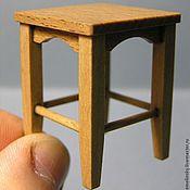 Куклы и игрушки ручной работы. Ярмарка Мастеров - ручная работа Табурет 1:12. Коллекционная миниатюра. Handmade.
