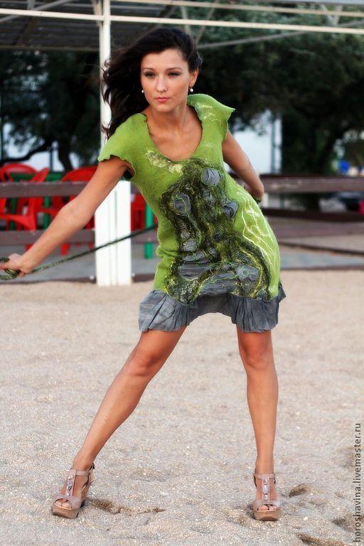 """Платья ручной работы. Ярмарка Мастеров - ручная работа. Купить Платье """"Мраморный лайм"""" на выставке Италия, Флоренция, Fortezza da Bas. Handmade."""