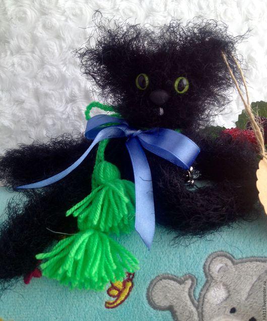 """Игрушки животные, ручной работы. Ярмарка Мастеров - ручная работа. Купить """"Черный котейка"""" Игрушка. Брелок. Подвеска.. Handmade. Черный"""