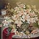 `Живые цветы` ( копия работы) Холст, масло. Художник Осипов Артур