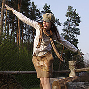 Одежда handmade. Livemaster - original item Felted skirt with large pockets. Handmade.