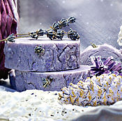 """Косметика ручной работы. Ярмарка Мастеров - ручная работа мыло с нуля """" Лавандовый мёд"""". Handmade."""