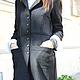 R00034 Пальто теплое пальто из шерсти шерстяное пальто женское пальто черное пальто стильное пальто длинное осеннее пальто кардиган из шерсти casual