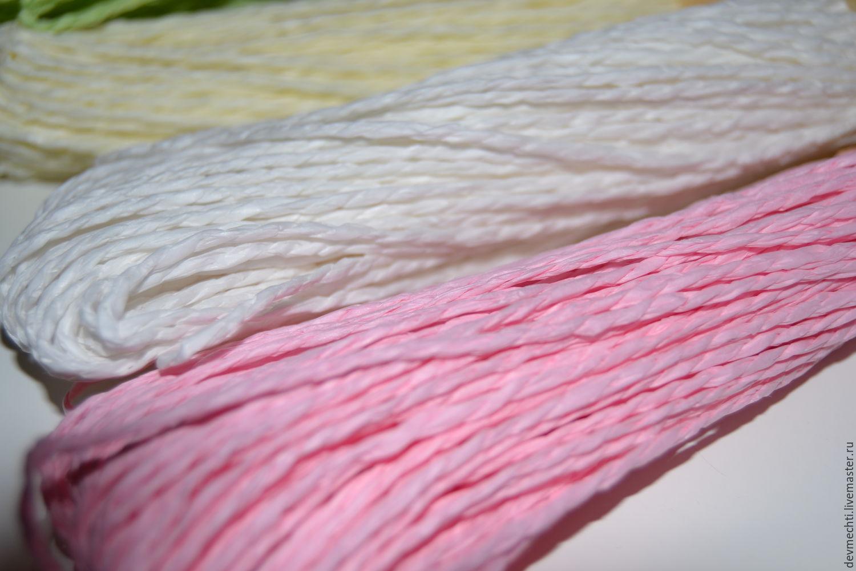Интерьерные композиции ручной работы. Ярмарка Мастеров - ручная работа. Купить Шнур бумажный (4 цвета). Handmade. Разноцветный, шпагат