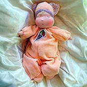 """Куклы и игрушки ручной работы. Ярмарка Мастеров - ручная работа Баинька """"Котик Пломбир"""". Handmade."""