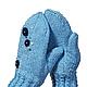 Варежки, митенки, перчатки ручной работы. Варежки голубые Хорошее настроение. Ольга (deni-tejedora). Ярмарка Мастеров. Варежки женские