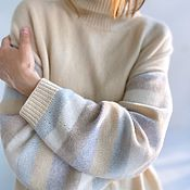 Одежда handmade. Livemaster - original item Cashmere jumper Marshmallows. Handmade.