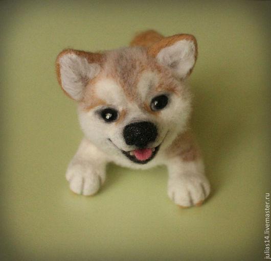 Игрушки животные, ручной работы. Ярмарка Мастеров - ручная работа. Купить Собачка Акита-ину. Handmade. Собака, Валяние