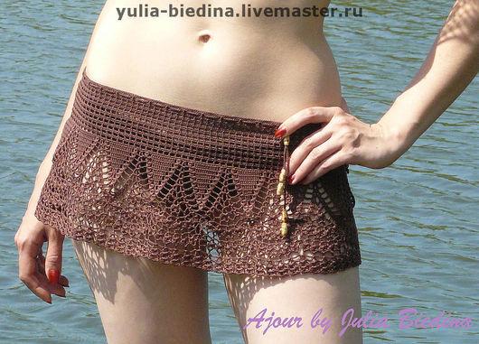Pareo handmade. Livemaster - handmade. Buy Beach kit 'Palermo'.Beach fashion, summer fashion, coffee color