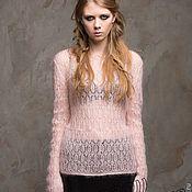 Одежда handmade. Livemaster - original item Pullover made of light mohair. Handmade.