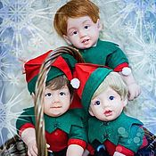 Куклы и игрушки ручной работы. Ярмарка Мастеров - ручная работа Новогодние эльфы,реборны.. Handmade.