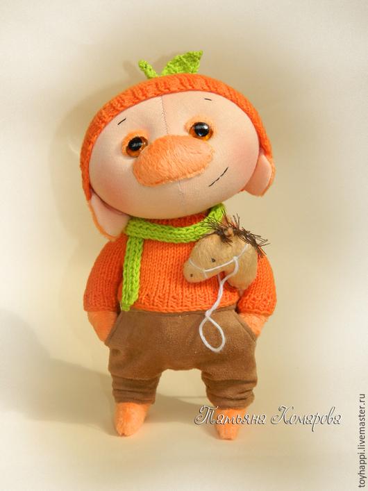 Человечки ручной работы. Ярмарка Мастеров - ручная работа. Купить Мандаринчик , авторская игрушка. Handmade. Оранжевый, игрушка ручной работы