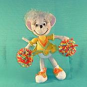 Куклы и игрушки ручной работы. Ярмарка Мастеров - ручная работа Мышка- черлидер. Handmade.