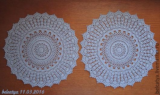 Текстиль, ковры ручной работы. Ярмарка Мастеров - ручная работа. Купить 2 салфетки-близняшки серо-голубые. Handmade. Голубой