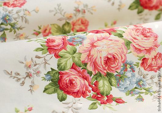 """Шитье ручной работы. Ярмарка Мастеров - ручная работа. Купить Ткань """"розы"""". Handmade. Ткань для творчества, ткань для шитья, хлопок"""