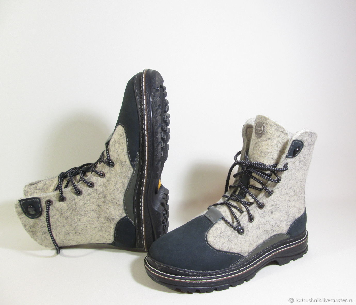 """Обувь ручной работы. Ярмарка Мастеров - ручная работа. Купить Ботинки валяные мужские """"Эльбрус"""". Handmade. Подарок мужчине"""
