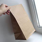 Пакеты ручной работы. Ярмарка Мастеров - ручная работа Крафт пакет 18х12х29 см. Handmade.