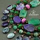 Сет браслетов. Комплект браслетов из натурального камня. Браслеты из агата.