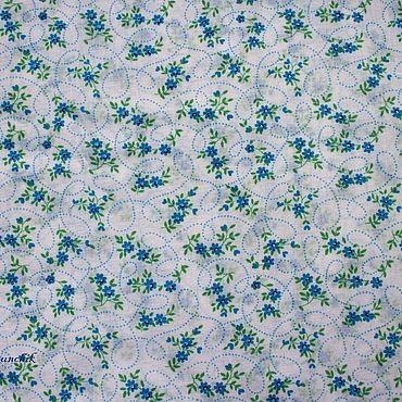 Материалы для творчества ручной работы. Ярмарка Мастеров - ручная работа Ткань с цветочками 50х40 см. Handmade.
