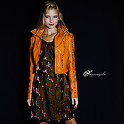Одежда handmade. Livemaster - original item Leather jacket Gazania. Handmade.