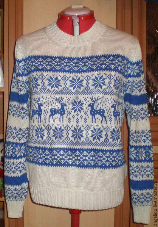 Кофты и свитера ручной работы. Ярмарка Мастеров - ручная работа. Купить Женский свитер с оленями. Handmade. Свитер вязаный