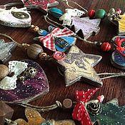 Подарки к праздникам ручной работы. Ярмарка Мастеров - ручная работа Bинтажные елочные игрушки 16 шт. Handmade.