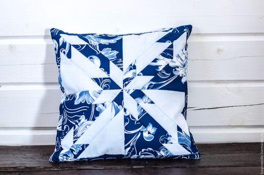 Текстиль, ковры ручной работы. Ярмарка Мастеров - ручная работа. Купить Декоративная подушка №2. Handmade. Голубой, подушка на диван