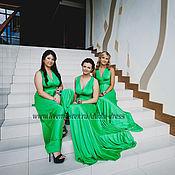 Одежда ручной работы. Ярмарка Мастеров - ручная работа Платья-трансформеры для подружек невесты зелёные. Handmade.