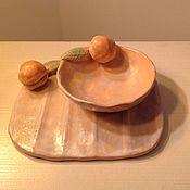 """Для дома и интерьера ручной работы. Ярмарка Мастеров - ручная работа Набор для ванной """"Персиковые тона"""". Handmade."""