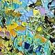 картинки цветы, современная живопись, арт живопись, арт картины, картина маслом на холсте с подрамником, голубые желтые синие зеленые бирюзовые оттенки цвета, хиппи картина, бохо картина, хиппи интерь