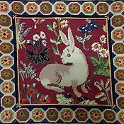 """Для дома и интерьера ручной работы. Ярмарка Мастеров - ручная работа Подушка """"Средневековый кролик"""". Handmade."""
