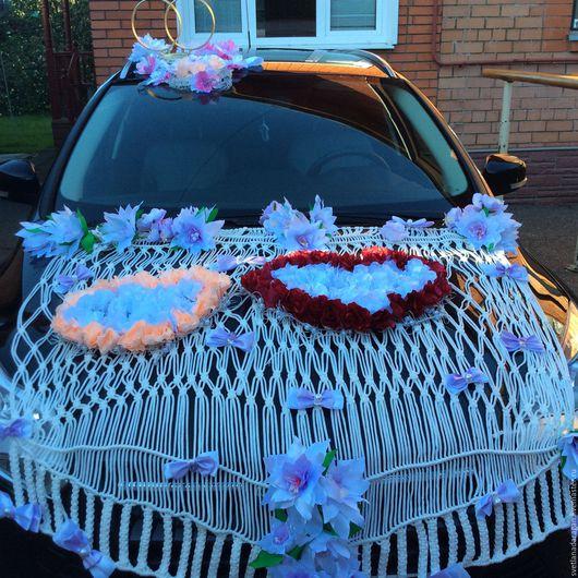 """Свадебные аксессуары ручной работы. Ярмарка Мастеров - ручная работа. Купить Свадебное украшение  на автомобиль """"109 роз"""". Handmade."""