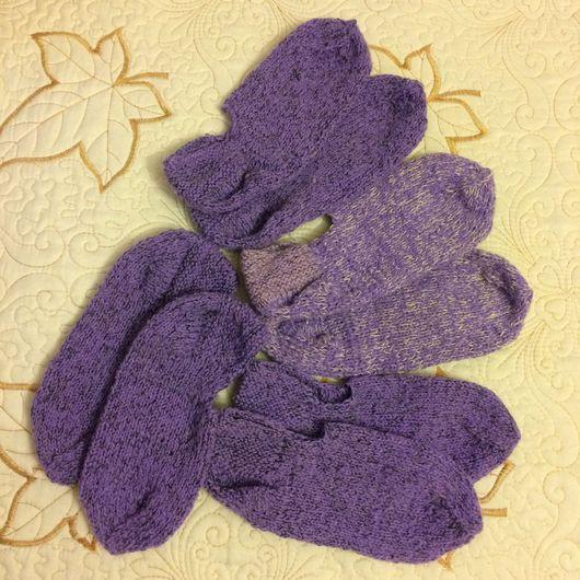 Носки, Чулки ручной работы. Ярмарка Мастеров - ручная работа. Купить Домашние теплые тапочки,носки,носочки,следочки,следки,пинетки. Handmade.