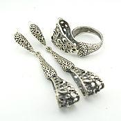 Украшения handmade. Livemaster - original item Bohemian Style jewelry set made of silver HH0025. Handmade.